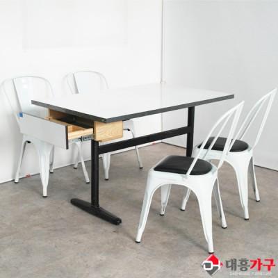 멜라민 H다리 수저서랍 테이블 세트