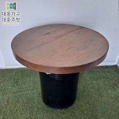 원형 통나무 대포상 테이블 (750파이)